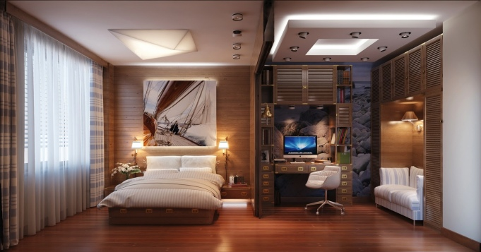 Luxury-Bedroom-office-design